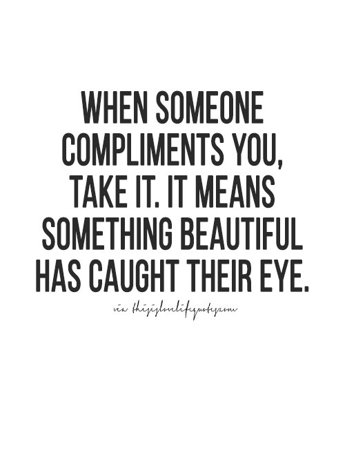 what does with compliments mean